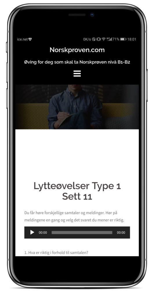 Iphonex norskprøve